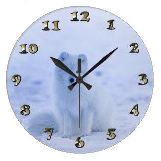 Iceland Arctic Fox Large Clock
