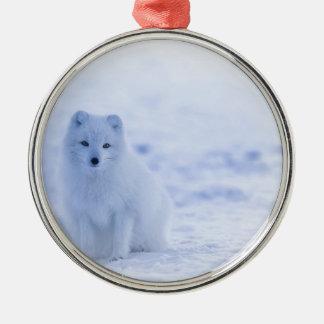 Iceland Arctic Fox Metal Ornament