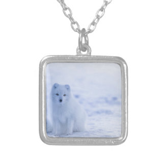 Iceland Arctic Fox Silver Plated Necklace