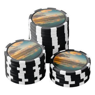 Iceland at Sunset Poker Chips