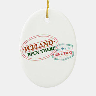 Iceland Been There Done That Ceramic Ornament