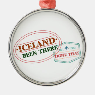Iceland Been There Done That Metal Ornament
