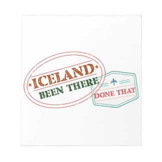 Iceland Been There Done That Notepad
