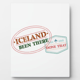 Iceland Been There Done That Plaque