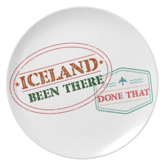 Iceland Been There Done That Plate