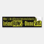 Iceland Blows - Obama Sucks Bumper Sticker