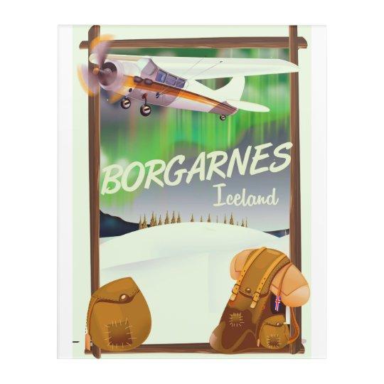 Iceland Borgarnes Flight poster Acrylic Wall Art