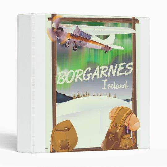 Iceland Borgarnes Flight poster Binder