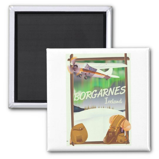Iceland Borgarnes Flight poster Magnet
