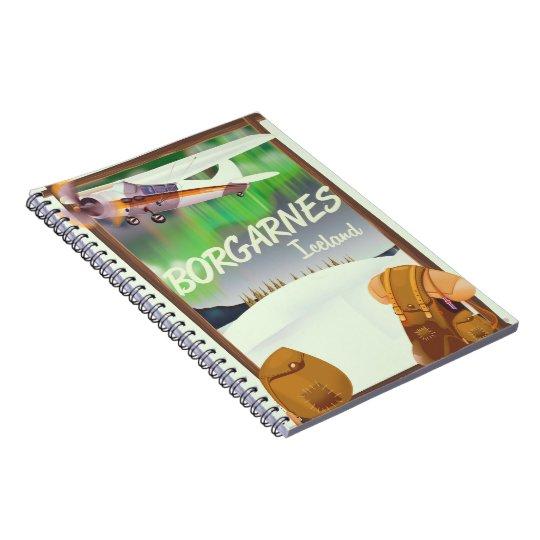 Iceland Borgarnes Flight poster Notebook
