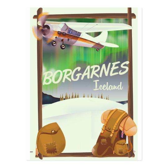 Iceland Borgarnes Flight poster Postcard