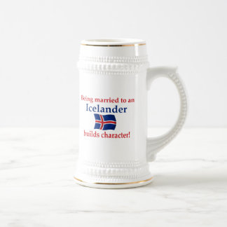 Iceland Builds Character 18 Oz Beer Stein