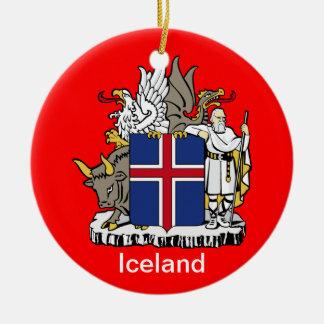 ICELAND* Ceramic Christmas Ornament