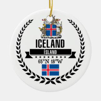 Iceland Ceramic Ornament