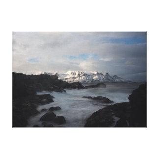 Iceland Coast On Canvas