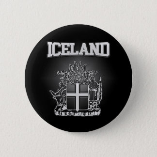 Iceland  Coat of Arms 2 Inch Round Button