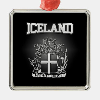 Iceland  Coat of Arms Metal Ornament