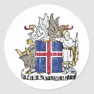 Iceland Coat Of Arms Round Sticker