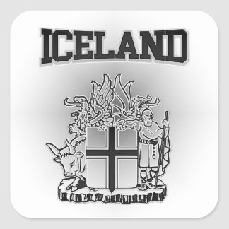 Iceland  Coat of Arms Square Sticker