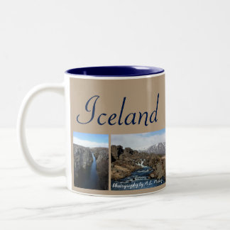 Iceland Collage Two-Tone Coffee Mug