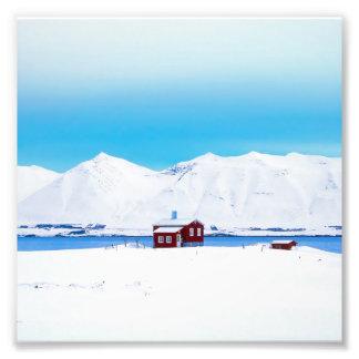 Iceland cottage photo print