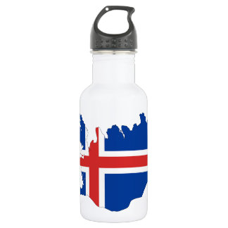 Iceland country flag 532 ml water bottle