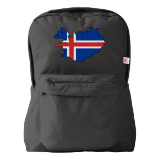 Iceland country flag backpack