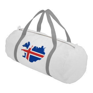Iceland country flag gym bag