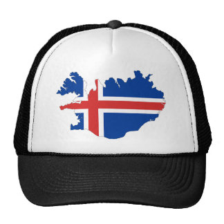 Iceland country flag trucker hat