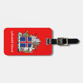 Iceland Diplomat Looking Luggage Tag