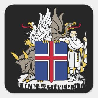 iceland emblem square sticker