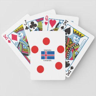 Iceland Flag And Icelandic Language Design Bicycle Playing Cards