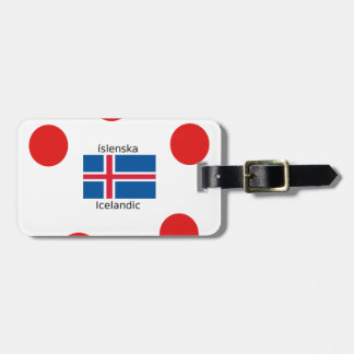 Iceland Flag And Icelandic Language Design Luggage Tag