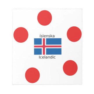Iceland Flag And Icelandic Language Design Notepad