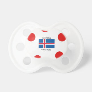 Iceland Flag And Icelandic Language Design Pacifier