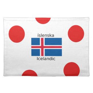 Iceland Flag And Icelandic Language Design Placemat