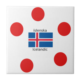 Iceland Flag And Icelandic Language Design Tile