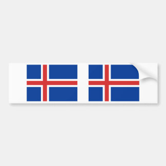 Iceland Flag Bumper Sticker
