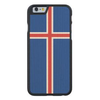 Iceland Flag Carved® Maple iPhone 6 Slim Case
