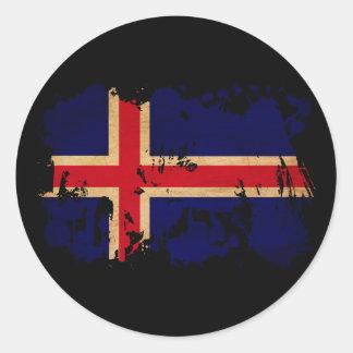 Iceland Flag Classic Round Sticker