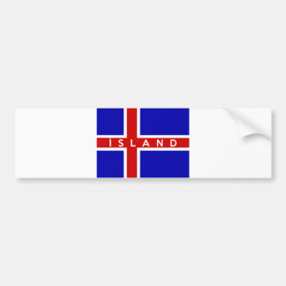 iceland flag country island text name bumper stickers