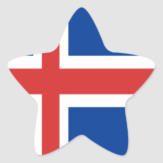 Iceland flag design on products star sticker