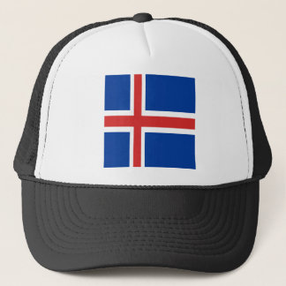 Iceland flag design on products trucker hat