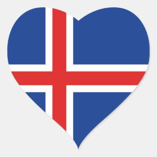 Iceland Flag Heart Sticker