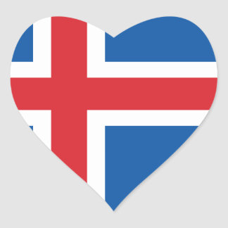ICELAND FLAG HEART STICKER