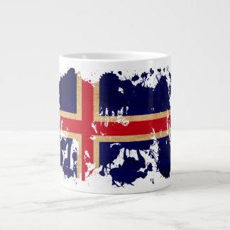 Iceland Flag Large Coffee Mug