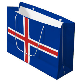 Iceland Flag Large Gift Bag