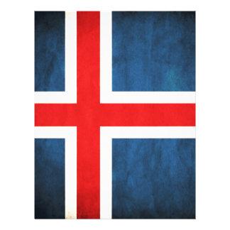 Iceland flag letterhead