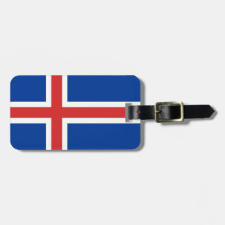 Iceland Flag Luggage Tag