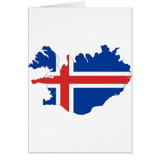 Iceland Flag Map Card